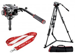Statyw Manfrotto 546GB + głowica video 504HD torba