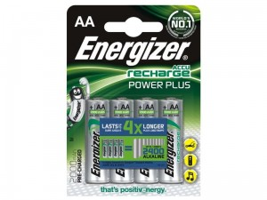 4 x akumulatorki Energizer Power Plus R6/AA Ni-MH 2000mAh