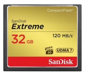 Karta pamięci SanDisk Compact Flash 32 GB Extreme 120 MB/s