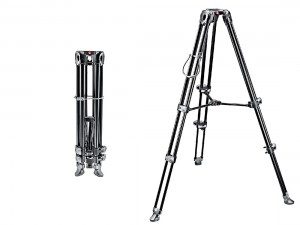 Statyw Manfrotto video Twin Telecopic MVT502AM