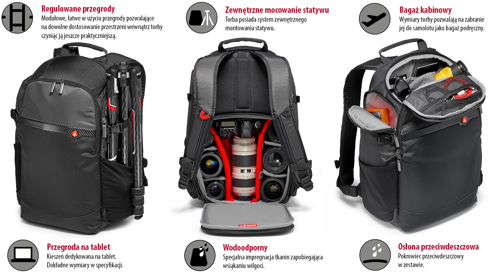 Manfrotto Advanced Plecak BeFree na aparat, drona